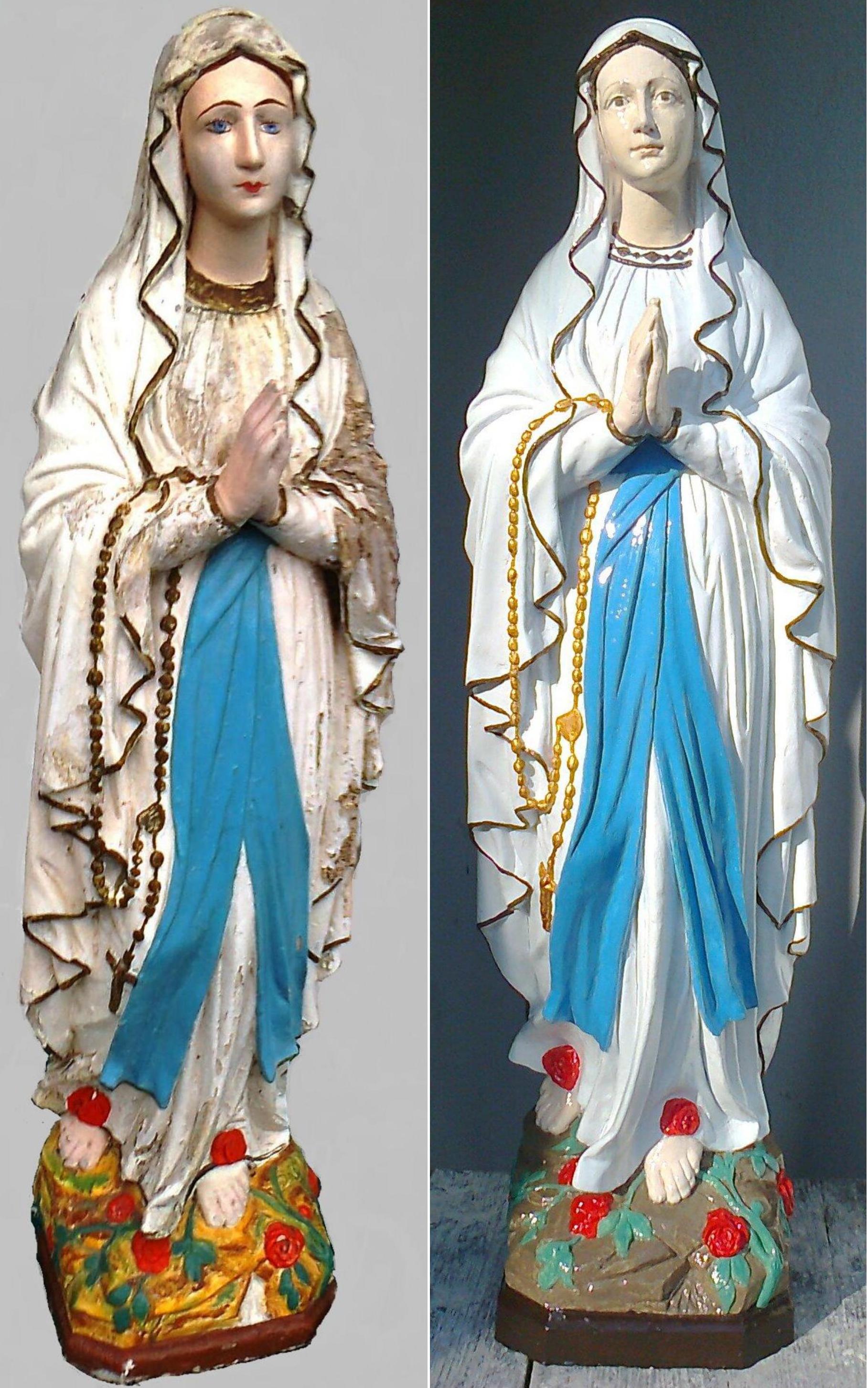 Festett Mária szobor rekonstrukció
