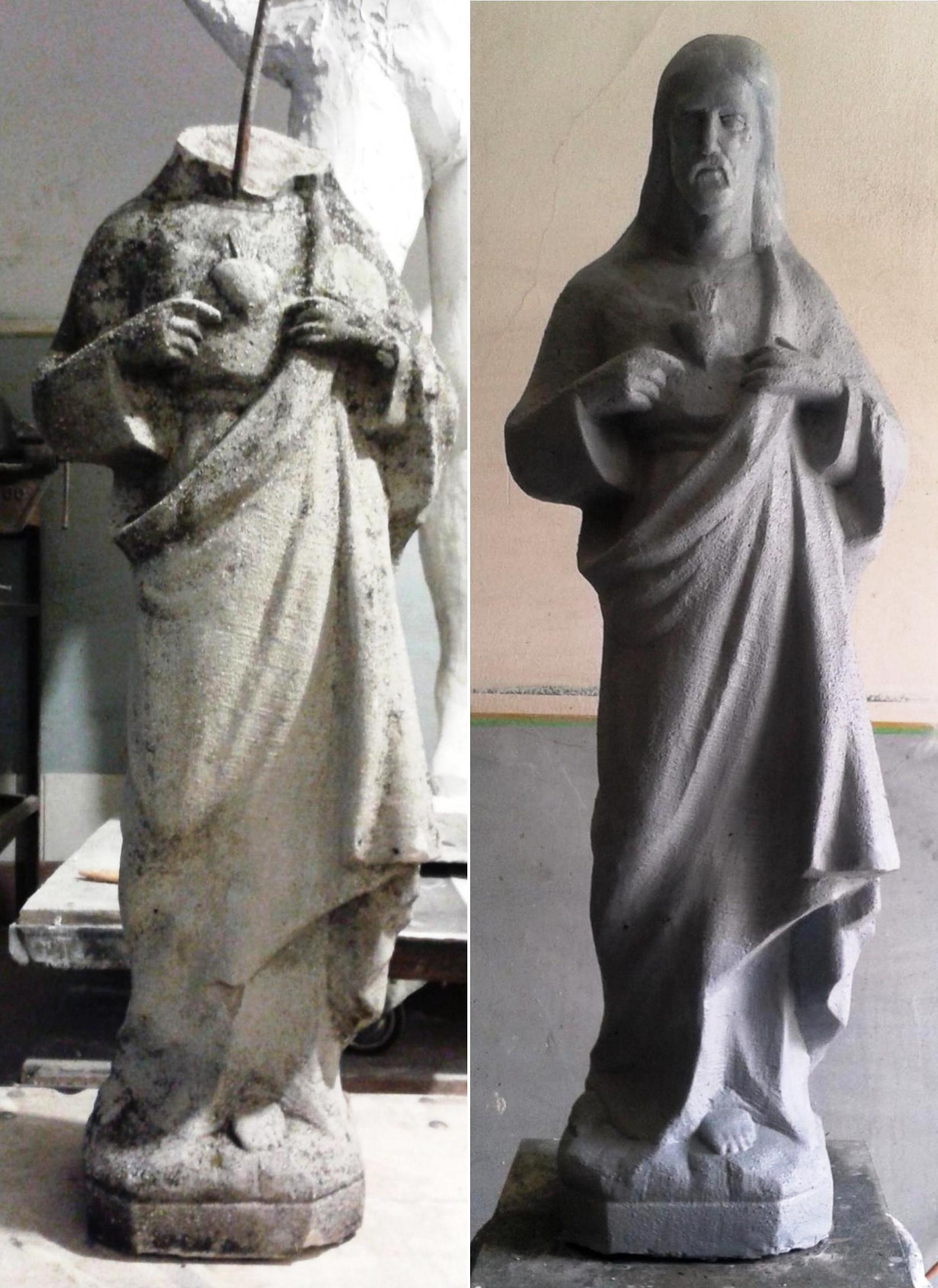 Jézus szobor rekonstrukció