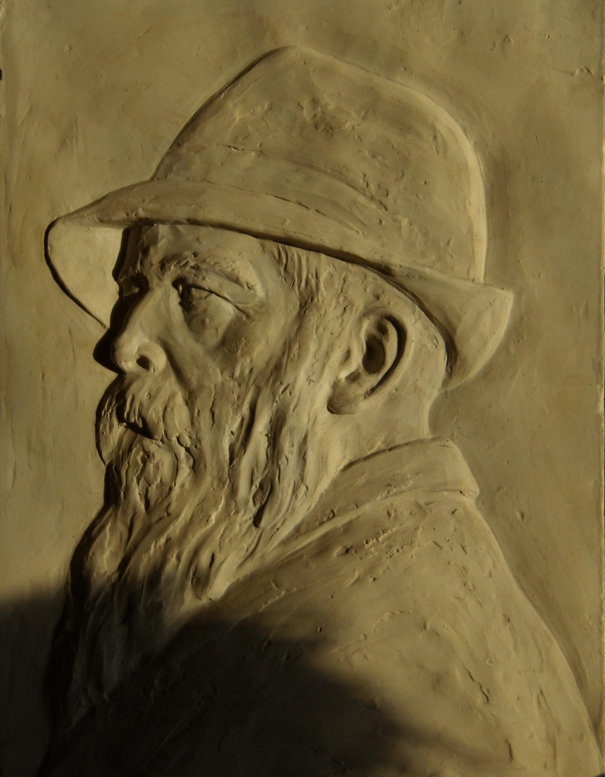 Claude Monet gipszrelief
